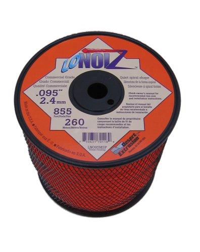 LoNoiz 095-Inch 3-Pound Spool Commercial Grade Spiral Twist Quiet Grass Trimmer Line Orange LN095MSP-2