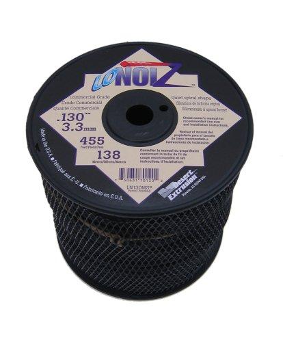 LoNoiz 130-Inch 3-Pound Spool Commercial Grade Spiral Twist Quiet Grass Trimmer Line Black LN130MSP-2