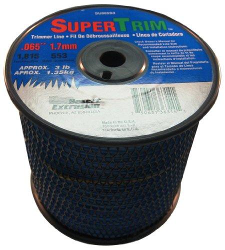 SuperTrim 065-Inch 3-Pound Spool Home Owner Grade Round Grass Trimmer Line Blue SU065S3-2