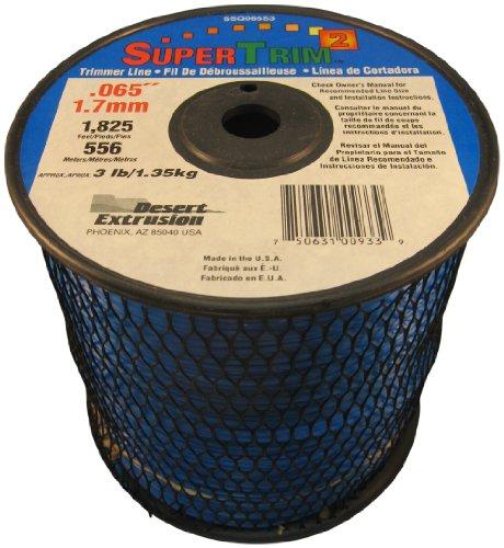 SuperTrim2 065-Inch 3-Pound Spool Home Owner Grade Square Grass Trimmer Line Blue SSQ065S3-2