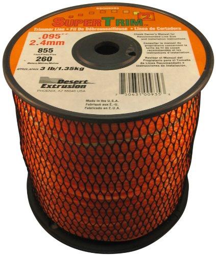 SuperTrim2 SSQ095S3-2 3-Pound Spool of 095-Inch Home-Owner Grade Square Grass Trimmer Line Orange