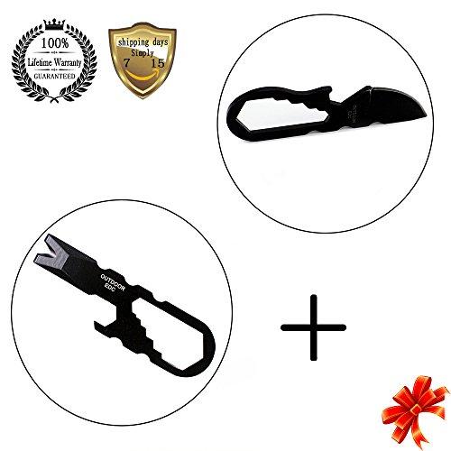 1x Multi function Mini EDC Tool Pocket Keychain Durable NdHNs