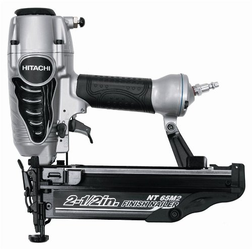 Hitachi NT65M2S 16-Gauge Finish Nailer with Integrated Air Duster 2-12-Inch Silver