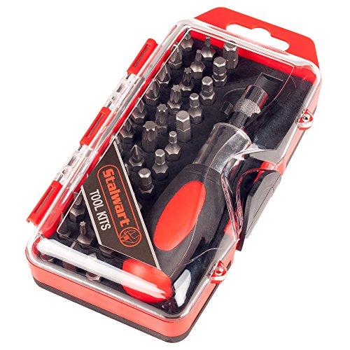 Stalwart 75-HT4037 Stubby Ratchet and Screwdriver Bit Set 37 Piece