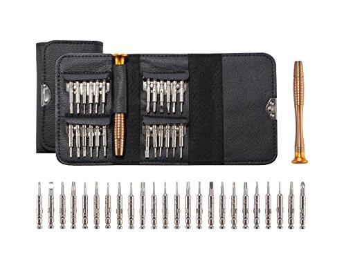 Ahyapiner Precision Small Screwdriver for Professional Electronic Repair 25 in 1 Tool Kit for iPhone SeriesiPadMacBookHTCLGSamsungCar Keys Glasses Watch Laptop Digital Camera
