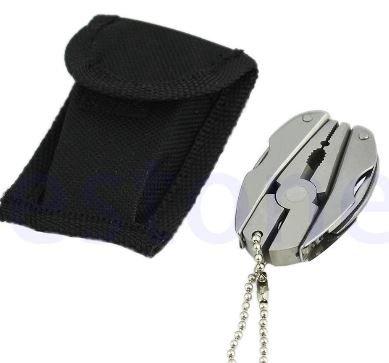Multi Function Folding Pocket Tools Plier Knife Screwdriver Keychain  Case Set