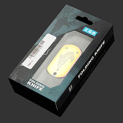 Sanrenmu 3119SUE-SR Multi Folding Knife Tool Toolkit Flat Screwdriver Bottle