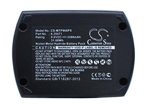 CS Replaceable Battery for Metabo Power Tools BS 96 BS96 BSP96 BSZ96 BSZ96 Air Cooled BSZ96IM Plus BZ96SP Implus KSA96 SB96 SBP96 SBT96 ULA 96