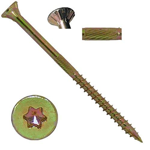 9 x 3 Gold Star Wood Screw TorxStar Drive Head 5 Pounds - Multipurpose TorxStar Drive Wood Screws
