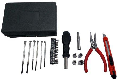25 Piece Home Tool Set With Cutter Pliers Precision Screwdrivers Multi-bit Screwdriver More