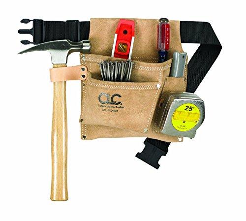 CLC Custom Leathercraft IP489X Suede Tool Bag Poly Web Belt 3 Pocket