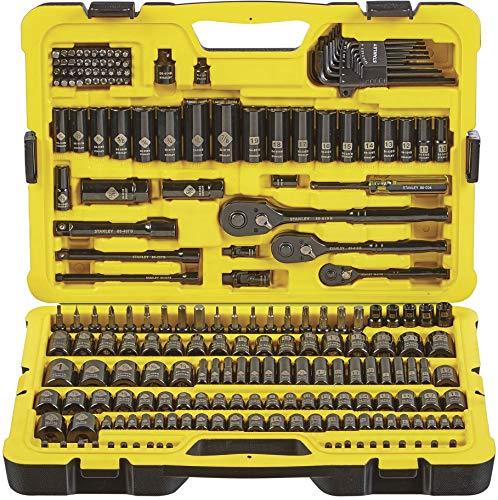 STANLEY Professional Grade Black Chrome NEW Mechanics Tool Set Socket Set-229 pieces