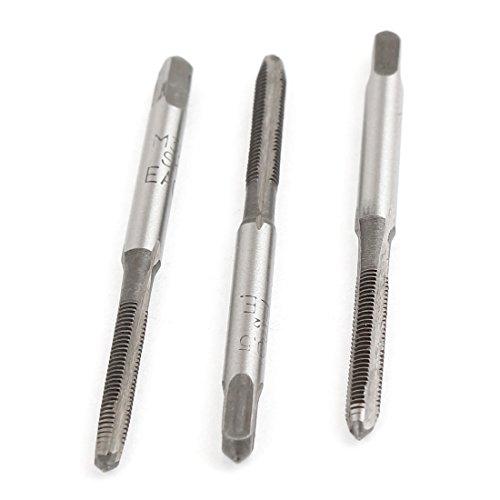 uxcellHSS 3 Flute 3mm x 05mm Taper Plug Metric Tap M3 x 05mm Pitch 3 Pcs