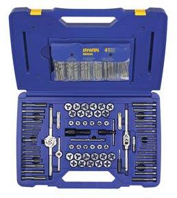 IRWIN Tap And Die Set with Drill Bits Machine ScrewSAEMetric 117-Piece 26377