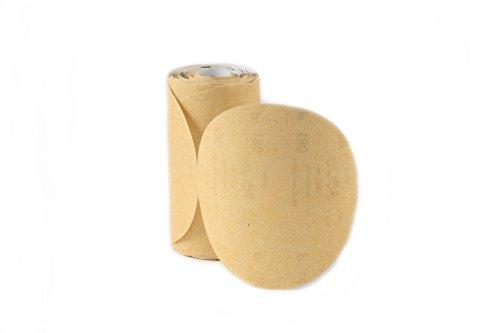 Karebac LR6C220 Premium Gold 6 PSA 220 C-Weight Aluminium Oxide Stearated 100 Sanding DiscsLinkroll Grit Sanding Discs