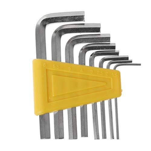 8pcs L-Handle Allen Key Hexagon 15mm -6mm Hex Key Wrench Set Long Arms Hexagon Spanner Screwdriver Cycling Repair Tool Household