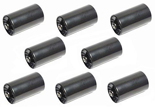 LampVPath 8PCS 1AA to 1D Size Battery Adapter Case AA to D Size Spacers AA to Size D Battery Adapter Converter Case8 Packs Black