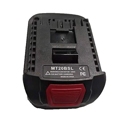 MT20BSL Battery Converter Adapter for Makita 18V Li-ion Battery BL1830 BL1860 Used to for Bosch 18V Lithium Battery