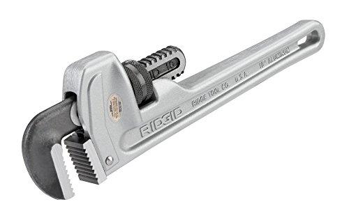 RIDGID 31090 Model 810 Aluminum Straight Pipe Wrench 10-inch Plumbing Wrench