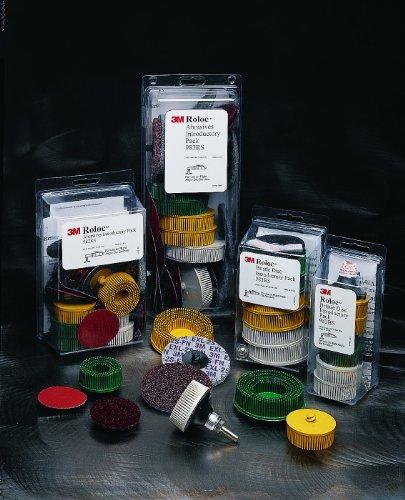 3M Roloc Bristle Disc Kit 983BS 15000 rpm 3 Diameter 58 Trim Pack of 5