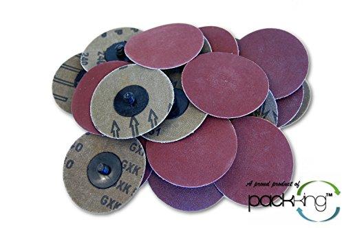 25 PC 3 Inch Roloc Discs 240 Grit Extra Fine R Type Sanding Abrasives