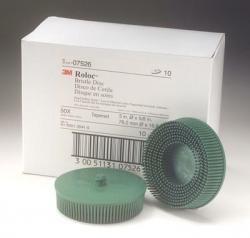 3M 7526 3 Scotch-Brite Roloc Bristle Discs 50 Grit Coarse Green
