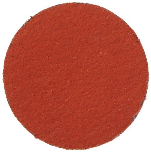 3M Roloc Disc 977F TR YF Weight Cloth Ceramic Grain WetDry 2 Diameter 80 Grit Pack of 50