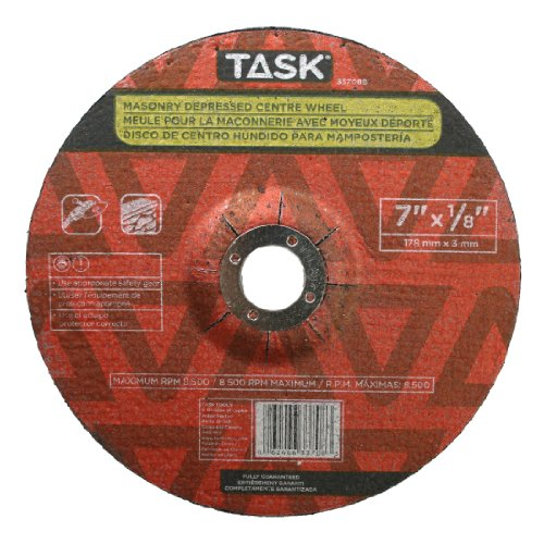 Task Tools 33708B 7-Inch by 18-Inch Masonry Cutting Wheel with Depressed Center
