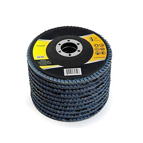 10 4-12 X 78 Premium Zirconia Flap Disc Grinding Wheel Sand Paper 100 Grit