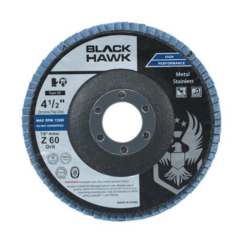 10 Pack 4-12 x 78 Black Hawk Zirconia Grinding Sanding Flap Discs T27 60 Grit