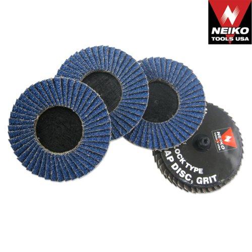 3 Zirconia Flap Discs 120 Grit - Roll Lock 10pc
