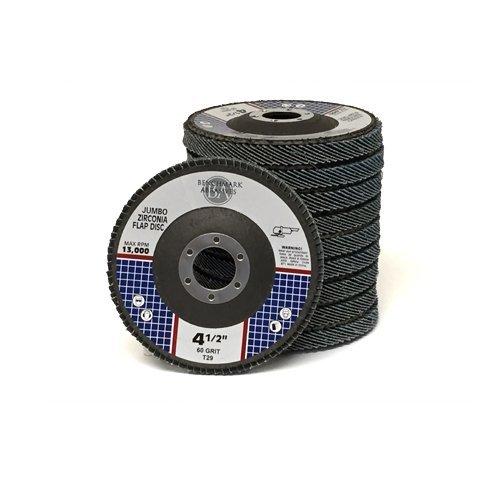45 x 78 Premium High Density Jumbo Zirconia Flap Disc Grinding Wheel 60 Grit Type 29 - 5 Pack