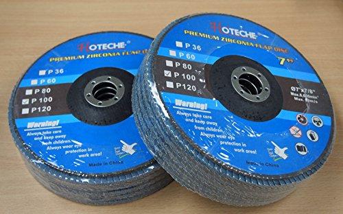 Lot of 10 Premium Zirconia Flap Disc Grinding Wheel 7x78 100 Grit