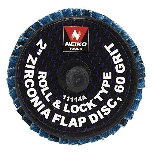Neiko Roloc Type 2-Inch Flap Disc Zirconia 60 Grit 10 Pieces
