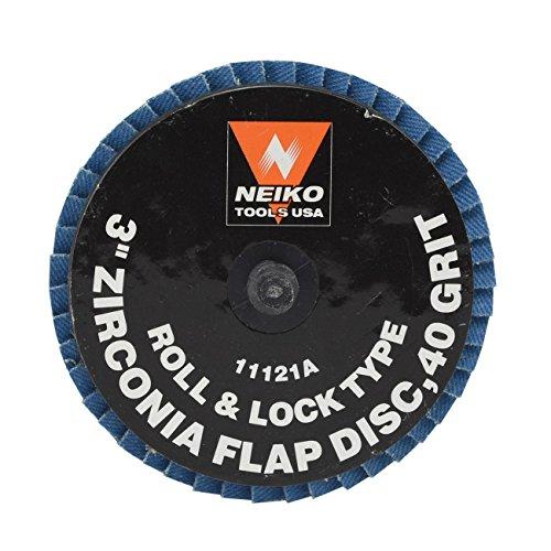 Neiko Roloc Type 3-Inch Flap Disc Zirconia 40 Grit 10 Pieces
