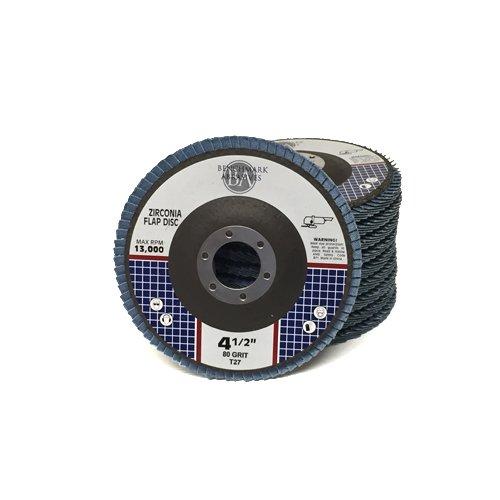 45 x 78 Premium Zirconia Flap Discs Grinding Wheels 80 Grit Type 27 - 10 Pack