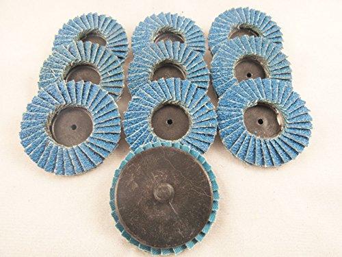 10pc 2 120 Grit Flap Wheels Zirconia Surface Discs 14 Roloc Grinding Roll Lock