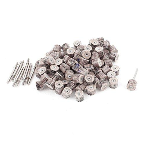 uxcell 10mm x 10mm x 3mm 120 Grit Flap Wheel Grinding Polishing Discs 100pcs
