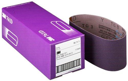 3M 81414 3 x 24 P120 Grit Purple Cloth Sanding Belts 761D - 5 Belts per Package