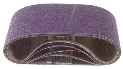 3M 81429 4-Inch x 24-Inch Purple Regalite Resin Bond 50 Grit Cloth Sanding Belt - 5 Pack
