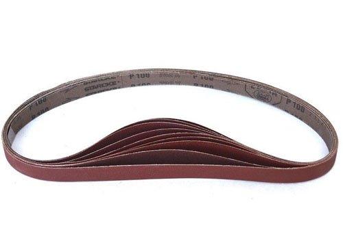 Sanding Belts 1 x 42 220 Grit Sander Belts Cloth Aluminum Oxide 12 Pack 220 Grit