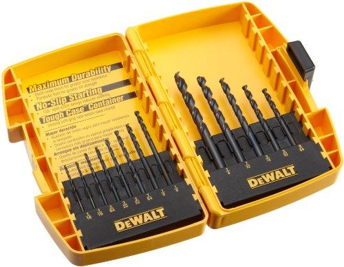 DEWALT DW1163 13 Piece Black Oxide Split Point Twist Drill Bit Assortment