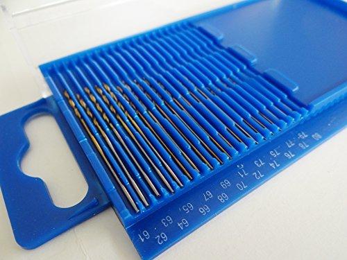 GC - 20pc HSS Mini Micro Twist Drill Bit Set Wire Gauge Index 61-80  03-16mm In A Plastic Box US FAST FREE SHIPPER
