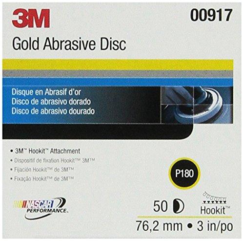 3M 00917 Hookit 3 P180C Grit Gold Disc