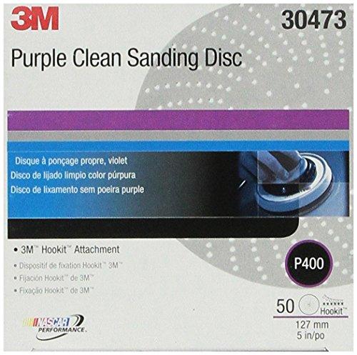 3M 30473 Hookit Purple 5 P400 Grit Clean Sanding Disc