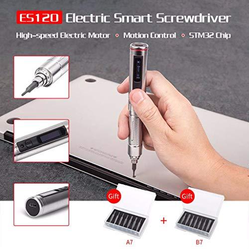 Electric Screwdriver Kits - ES1210 ES121 ES121V Cordless Smart Motion Control Screwdrivers STM32 Chip OLED with Screwbits Home Multi-Tool Repair Tool Set ES120