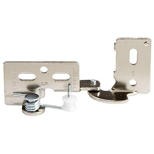 Snap Closing Semi-Concealed Hinges - Nickel pair - 14 overlay