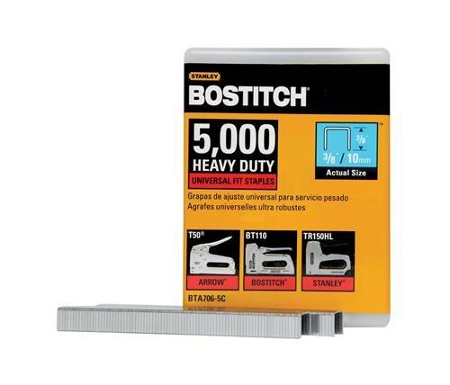BOSTITCH Staples Heavy Duty Construction Grade 38 x 25-Inch 5000-Pack BTA706-5C