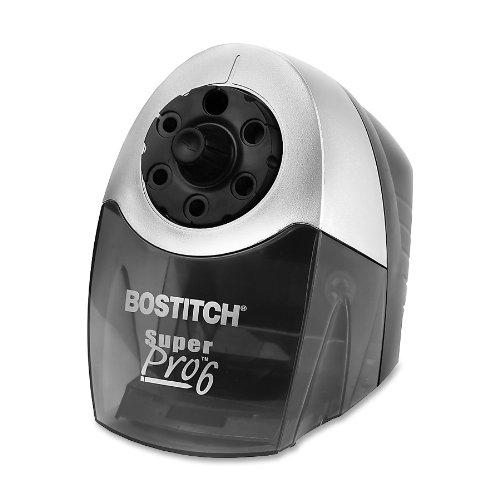 Bostitch SuperPro  6 Commercial Electric Pencil Sharpener 6-Holes BlackSilver EPS12HC