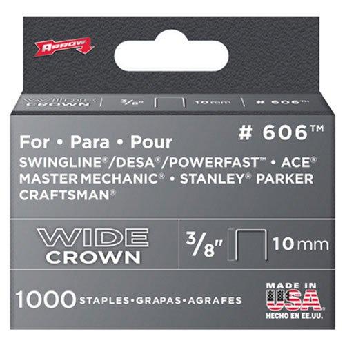 Arrow Fastener 606 Wide Crown Swingline Heavy Duty 38-Inch Staples 1000-Pack